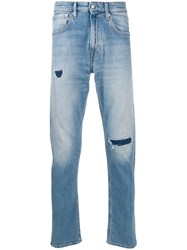 Calvin Klein Jeans Distressed Slim Fit Blue