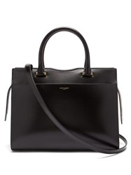 Saint Laurent Uptown Leather Tote Black