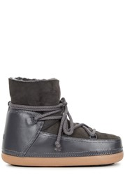 Inuikii Grey Shearling Lined Leather Boots