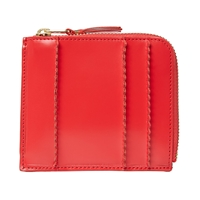 Comme Des Garcons Sa3100rs Raised Spike Wallet Red
