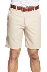 Men's Big And Tall Peter Millar 'Salem' Flat Front Performance Shorts Khaki