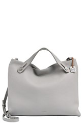 Skagen 'Mikkeline' Leather Satchel Grey Light Ash