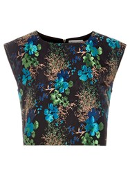 Louche Jamais Boxy Crop Top Black Blue