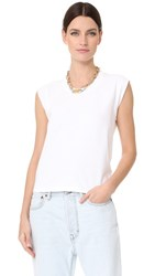 Alexander Wang T By High Twist Muscle Tee White