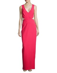 Nicole Miller Solid Jersey Cutout Gown Snap Dragon