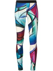 Fausto Puglisi Hand Painted Effect Leggings Multicolour