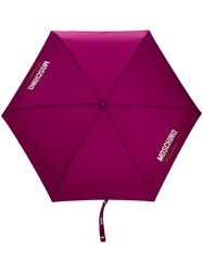 Moschino Couture Print Umbrella Purple