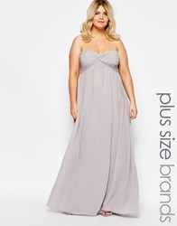 Truly You Bandeau Maxi Dress Gray