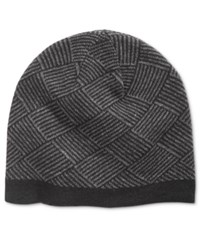 Ryan Seacrest Distinction Men's Diamond Knit Beanie Only At Macy's Charcoal Grey