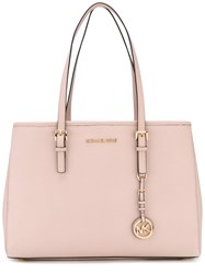 Michael Michael Kors Charm Embellished Tote Women Leather One Size Pink Purple