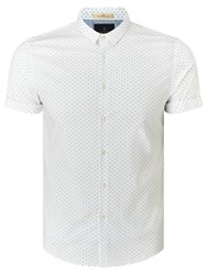 Scotch And Soda Short Sleeve Classic Cotton Shirt White
