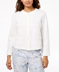 Charter Club Quilted Satin Trim Bed Jacket Created For Macy's Angel White