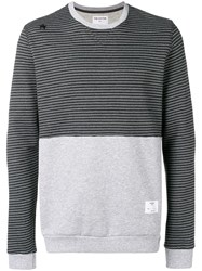 The Editor Contrast Panel Sweatshirt Grey