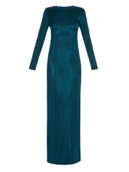 Galvan Long Sleeved Backless Gown