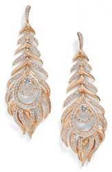 Kendra Scott Women's Elettra Drop Earrings White Cz Rose Gold