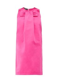 Rochas Piastra Radsmir Bow Front Satin Dress Fuchsia