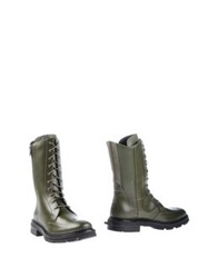 Y 3 Ankle Boots Military Green