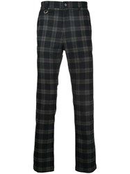 Guild Prime Checked Trousers Polyester Polyurethane Rayon Black