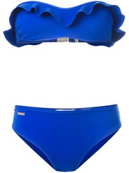 Fendi Ruffled Bikini Set Blue