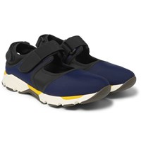 Marni Cutout Neoprene Sneakers Navy