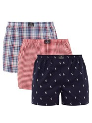 Polo Ralph Lauren Pack Of Three Cotton Boxer Shorts Multi