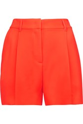 Mcq By Alexander Mcqueen Neon Crepe Shorts Papaya