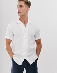 Selected Homme Cuban Shirt In 100 Bci Cotton White
