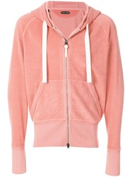 Tom Ford Terry Cloth Hoody Pink And Purple