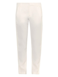 Vince Satin Tuxedo Striped Tapered Trousers