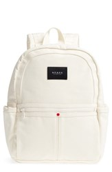 State Bags Kensington Kane Canvas Backpack Ivory Natural