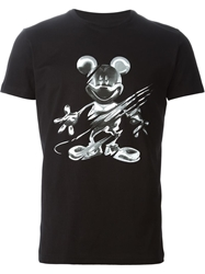 Iceberg Mickey Mouse Print T Shirt Black