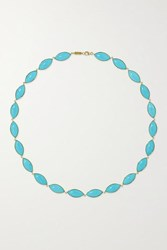 Jennifer Meyer 18 Karat Gold Turquoise Necklace