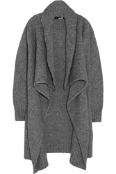 Love Moschino Draped Wool Blend Cardigan