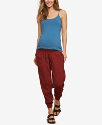 Motherhood Maternity Under Belly Jogger Pants Brown
