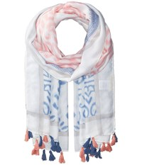 San Diego Hat Company Bss1721 Woven All Over Print With Tassels Pink Scarves