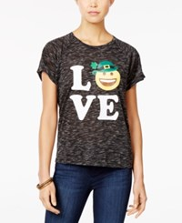 Freeze 24 7 Juniors' Love St. Patrick's Day Graphic High Low T Shirt True Black