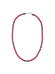 Roman Paul Beaded Necklace Red