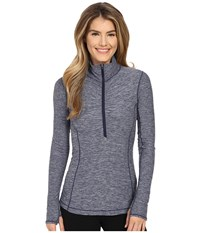 New Balance In Transit 1 2 Zip Top Aviator Women's Long Sleeve Pullover Navy