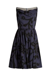 Vivienne Westwood Twisted Monroe Printed Skater Dress Blue Multi