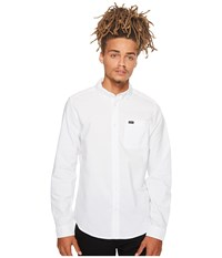 Rvca That'll Do Oxford L S White Long Sleeve Button Up