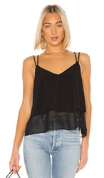 Bcbgeneration Ruffle Hem Cami In Black.
