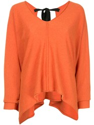 Taylor Asymmetric V Neck Jumper Yellow And Orange