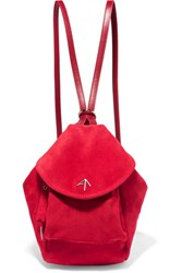 Manu Atelier Fernweh Mini Suede Backpack Red