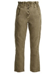 Current Elliott The Paperbag Relaxed Leg Trousers Khaki
