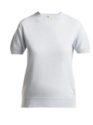 Connolly Short Sleeved Cashmere Sweater Light Blue