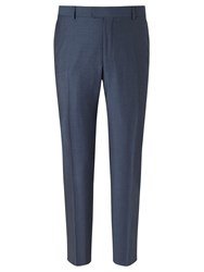 Richard James Mayfair Wool Mohair Slim Fit Suit Trousers Blue Steel