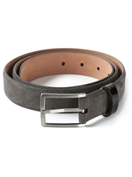 Lanvin Varnished Detail Belt Grey