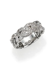 John Hardy Classic Chain Diamond And Sterling Silver Braided Ring