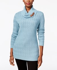 Charter Club Turtleneck Sweater Only At Macy's Dusted Aqua