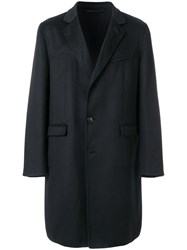 Liska Single Breasted Coat Acetate Viscose Cashmere Black